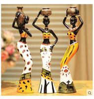 3PC Creative Household Adornment Decoration Articles Resin Dolls African People Home Sitting Room Adornment Is Placed