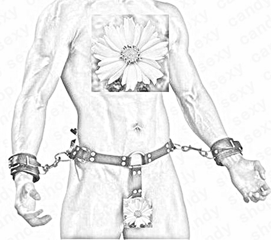 Buy Faux Leather Waist Bondage Belt Hand cuffs Men Body Harnesses Adult Games Sexy Costumes Male Gays Fetish Dresses Sexual