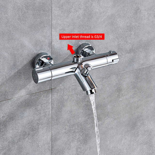 Quyanre Thermostatic Shower Faucets Set Bathroom Thermostatic Mixer Tap Hot And Cold Bathroom Mixer Mixing Valve Bathtub Faucet