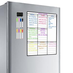 Image 1 - Lavagna magnetica per frigorifero da cucina frigorifero multiuso calendario settimanale lavagna bianca per pianificazione Menu con 8 penne