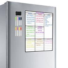 Từ Tính Bảng Trắng Tờ Cho Nhà Bếp Tủ Lạnh Đa Năng Tủ Lạnh Hàng Tuần Bảng Trắng Lịch Cho Thực Đơn Lập Kế Hoạch Với 8 Bút