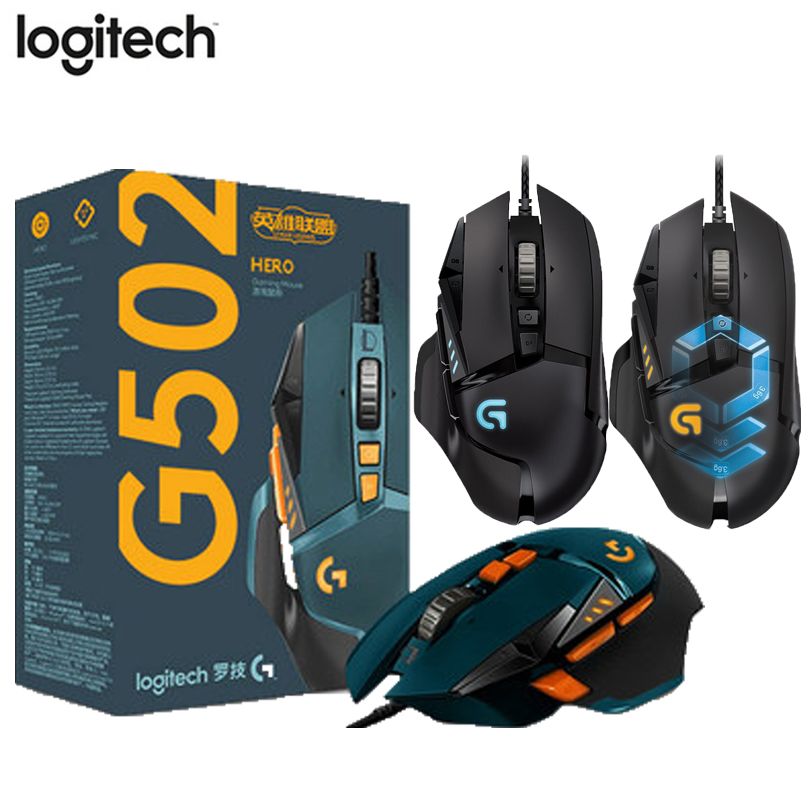 Original Logitech Mouse G502 HERO LOL Limited Edition 16000DPI G502 Professional Gaming Mouse 12000DPI RGB Proteus