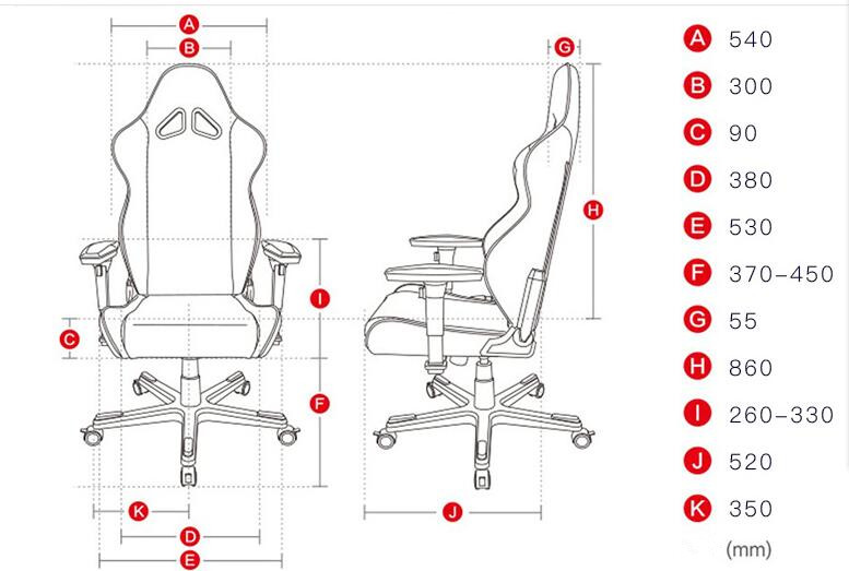Big And Tall Gaming Chair Large Size Racing Chair High Back