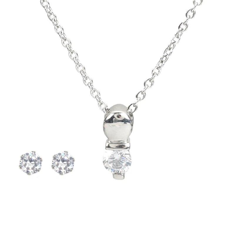 Women Fashion Jewelry Ananas Cristal Cubique Zircon Collier Boucles d/'oreilles Set