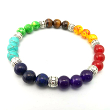 Yoga 7 Chakras Bracelets For Women 2017 Sparkling Crystal Four Colors Healing Balance Beads Nature Stone