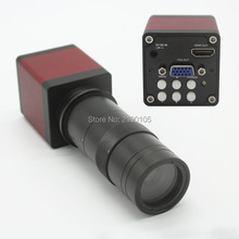 Discount! Free Shipping 2.0MP 30FPS 1080P HDMI VGA Dual Output Digital Industrial Microscope Camera+8X-130X Optical C-mount Lens