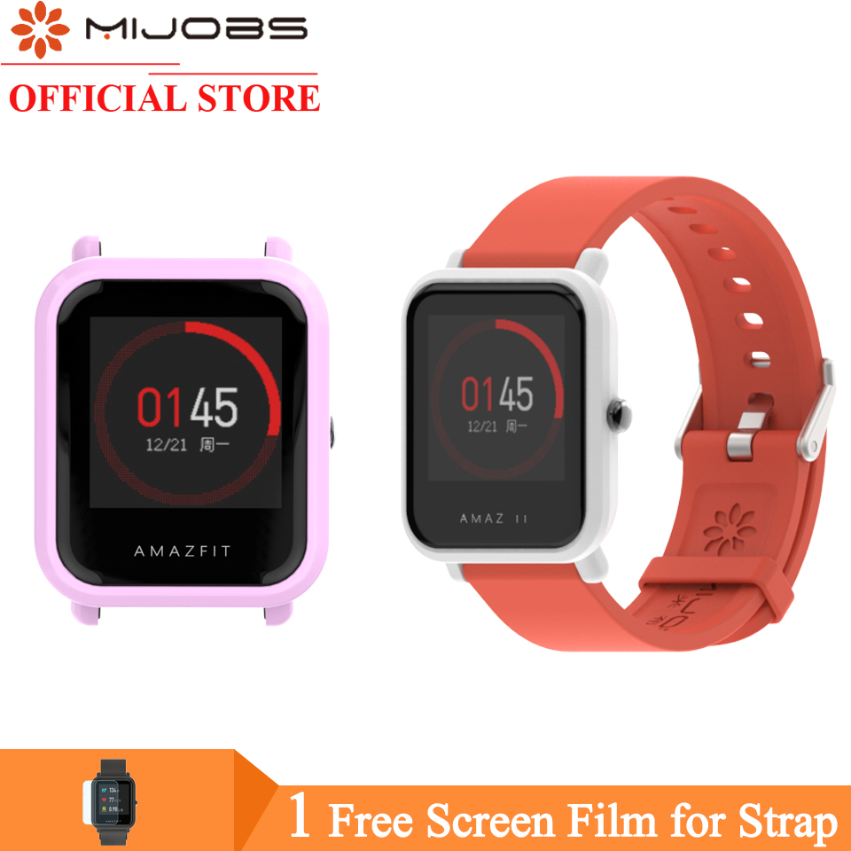 For Amazfit Bip Strap Bracelet Wristband Protective Case Cover For Xiaomi Huami Amazfit Bip BIT PACE Lite Watch PC Shell Bumper