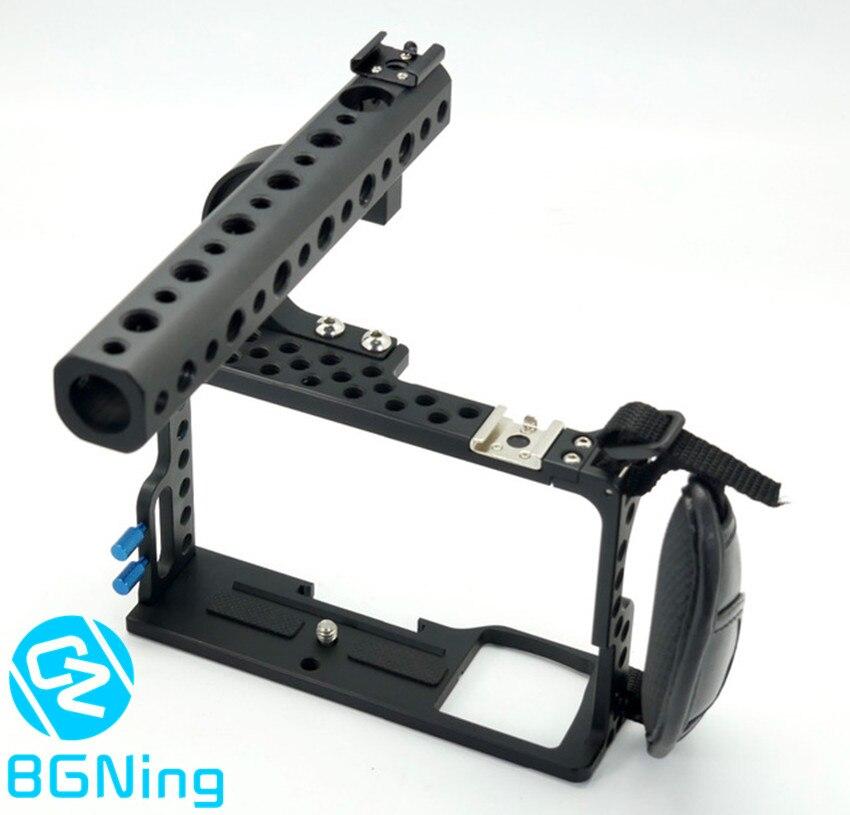 Cage pour appareil photo professionnel pour Sony A6000 système sans miroir étui de protection en métal pour appareil photo avec Kit de poignée