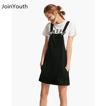 71b57ee00a JoinYouth Women Fashion Black Striped White Pocket Denim Adjustable  Suspender Dress Ladies Belt Autumn Female Braces