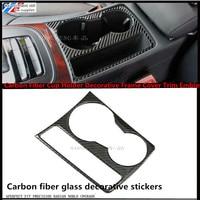 Nouveau Design en Fiber de carbone porte - gobelet cadre décoratif couverture garniture emblème autocollant pour Audi A4 B8 09 - 15 A5 Car Styling