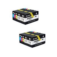 10 Packs 950XL 951XL Compatible Ink Cartridge Replacement For HP950 951 Compatible With Officejet Pro 8610