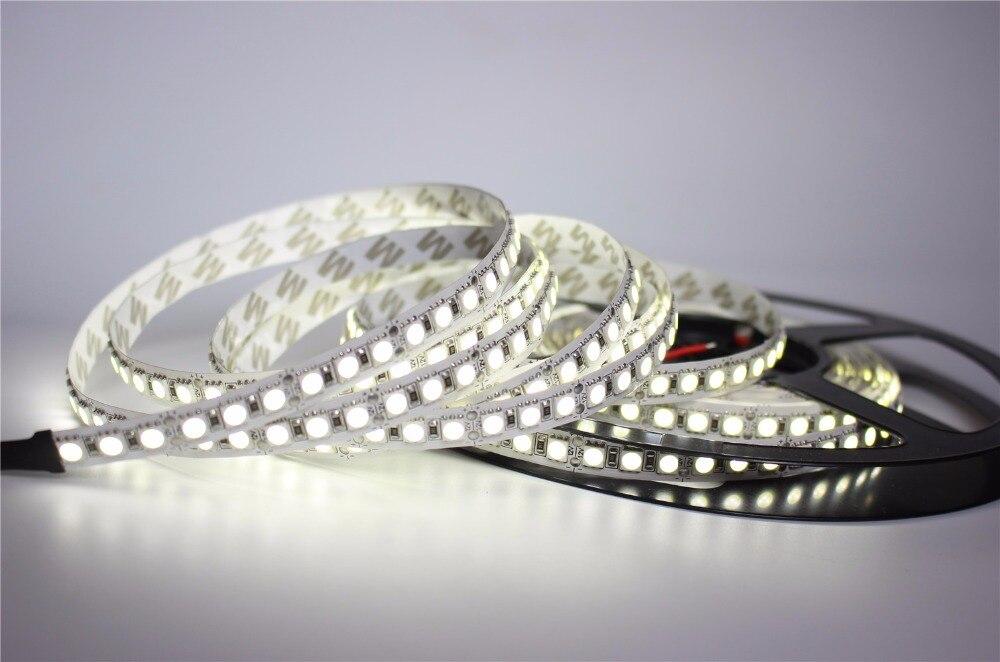 5m/lot 10mm PCB Single Row 5050 SMD 600 LED Strip DC12V non-waterproof Flexible Light 120 leds/m,5m/lot White Warm White RGB
