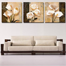 3D DIY Diamond Painting Cross Stitch 3pcs Floral Triptych Crystal Needlework Embroidery Flower Full Decor