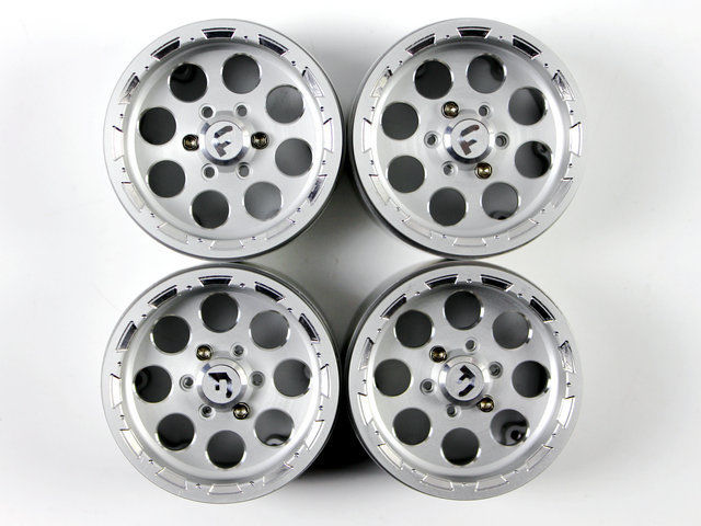 Gds Racing 2.2 Alloy Wheels Rim Set For 1/10 Rc Crawler Rc Car Silver 4pcs 35mm Pleasant In After-Taste Remote Control Toys