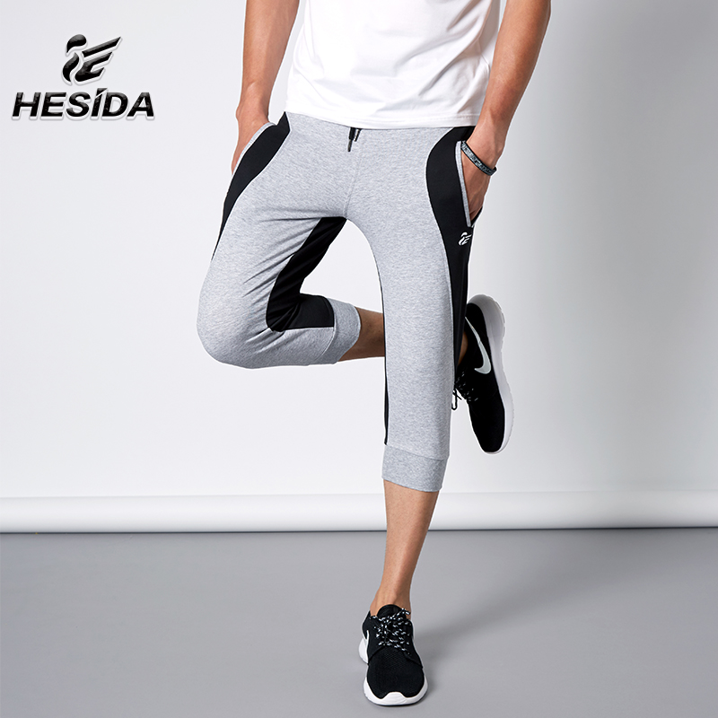 Running Cropped 3/4 Pants Men Jogging Sport Homme Croped Skateboard Boys Training Outdoor Sportswear Sports Wear Correr Trousers