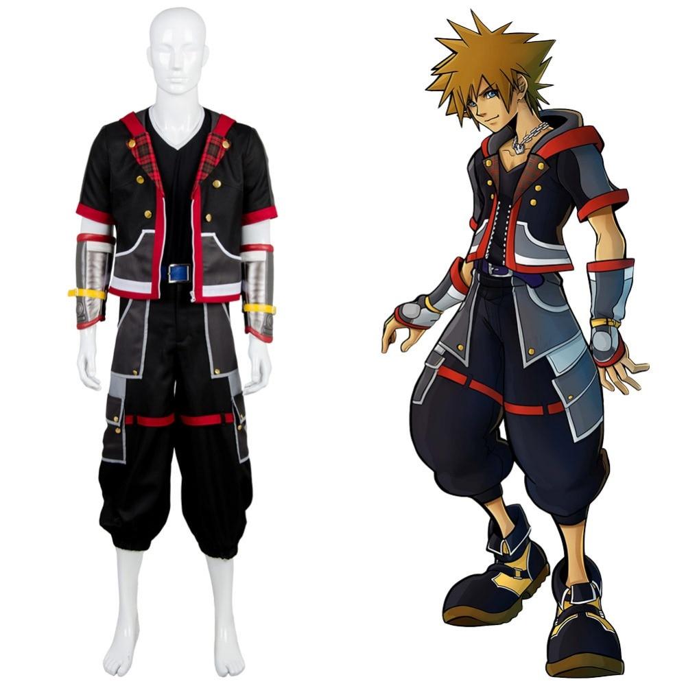 Kingdom Hearts III Protagonist Sora Outfit Uniform Cosplay Costume full set