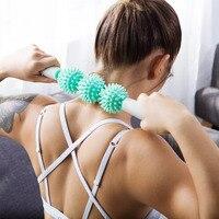 Массажный валик для мышц антицеллюлитный массажер антицеллюлитный триггер тензометрический джойстик для тела ног прибор для похудения йо...