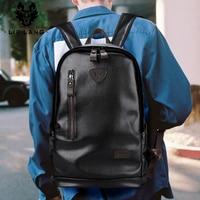 LIELANG bookbags backpack for laptop Leather mens leather bag Waterproof backpack capacity Men Bag School Bags mochila