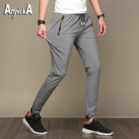 AmynickA New Men Quick Dry Outdoor Pants Hiking Camping Pants Male Summer Breathable Hunting Climbing Pants Size 28-36 XS908