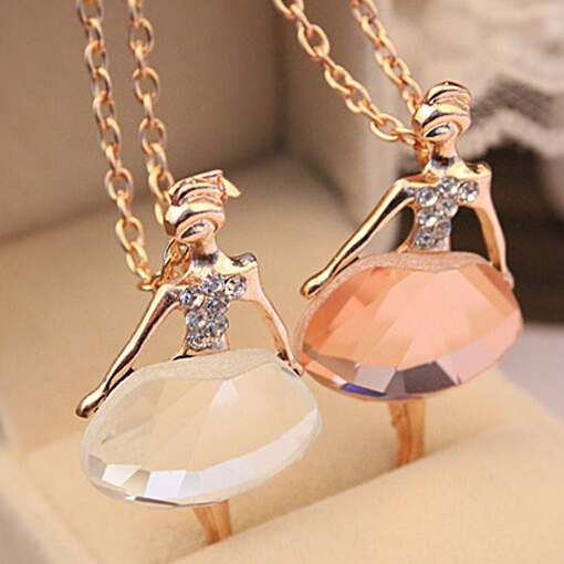 If you gold color sweater chain shiny crystal ballet girl pendant if you gold color sweater chain shiny crystal ballet girl pendant necklace statement long necklaces jewelry for women in chain necklaces from jewelry aloadofball Images