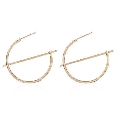 Женские новые модные большие круглые серьги кольца металлические