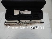 Wholesale one tube Soprano Saxophone Bb High F, G key nickel plating surface