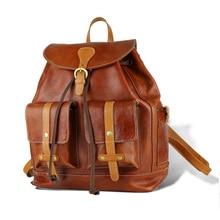 Neue frauen Leder Umhängetasche Damen Rucksack Mode Retro frauen Trage Top Leder Tasche frauen Leder Tasche