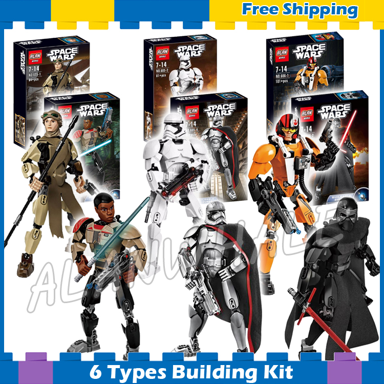 6types Space Wares The First Order Commander Battle Figres Lightsaber Soldier Model Building Blocks Bricks Compatible With Lego