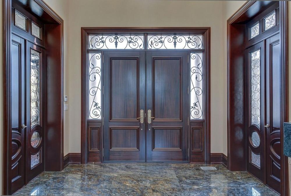 2019 New Style 2-panel Highly Durable Solid Wood Entry Door Paint Grade Interior Wooden Door Entry Doors ID1606033
