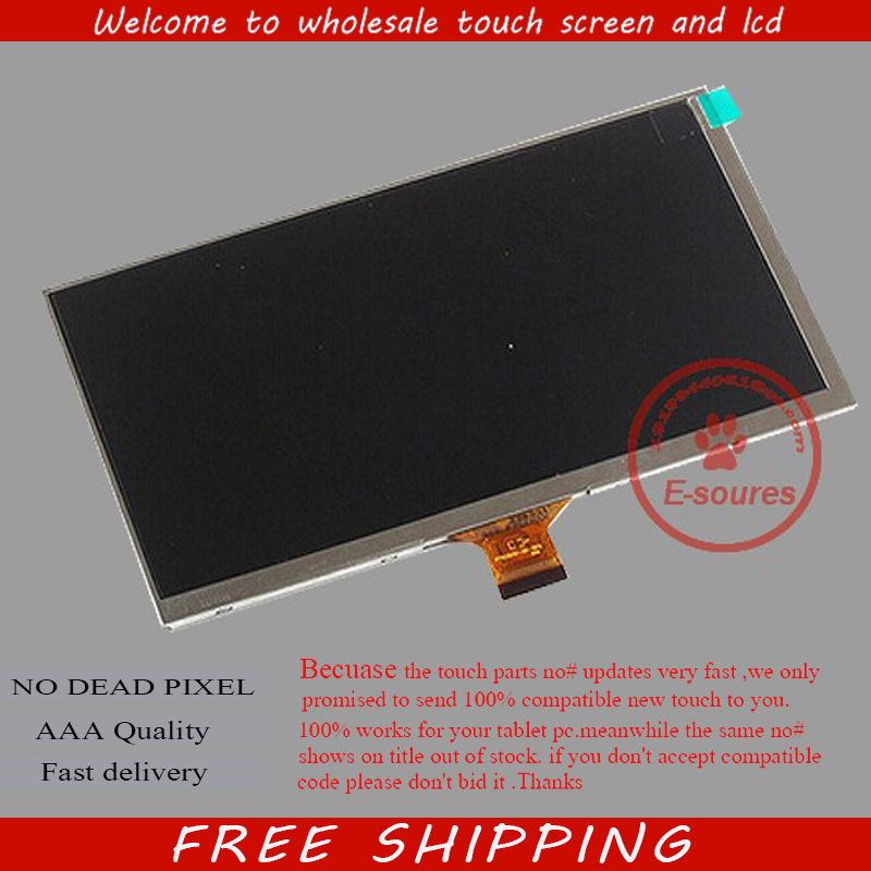 New LCD Display For 7 inch Oysters T72H t72x 3G Tablet 30Pins inner LCD Screen Matrix Replacement Panel Free Shipping new lcd display matrix for 7 oysters t72hm 3g tablet inner lcd display 1024x600 screen panel frame free shipping