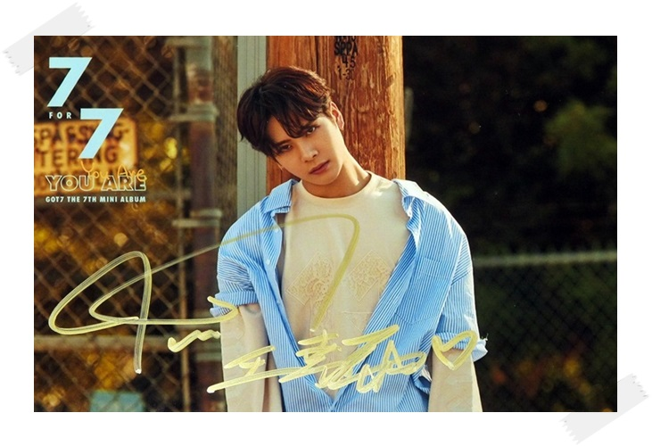signed GOT7 GOT 7 Jackson  autographed photo  7 FOR 7 6 inches free shipping 102017C got7 got 7 jb autographed signed photo flight log arrival 6 inches new korean freeshipping 03 2017