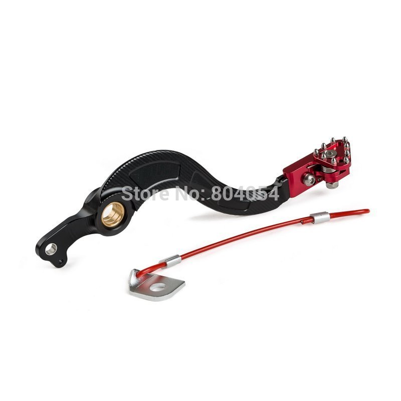 ФОТО New Motorctycle Aluminum Rear Brake Pedal Lever For Honda CRF450R 2002-2016  Red