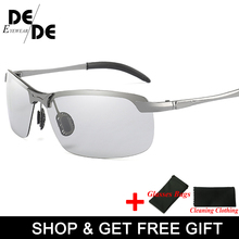 The New Photochromic Sunglasses Men Polarized driving Chameleon Glasses Change Color SunGlasses HD Day Night Vision Driving