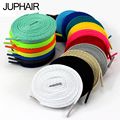 JUP 12 Pair Length 60cm-200cm Shoelaces Flat Colored Led Shoe Laces for Fashion Canvas Shoes Colors Girls Boys Lace Shoestring