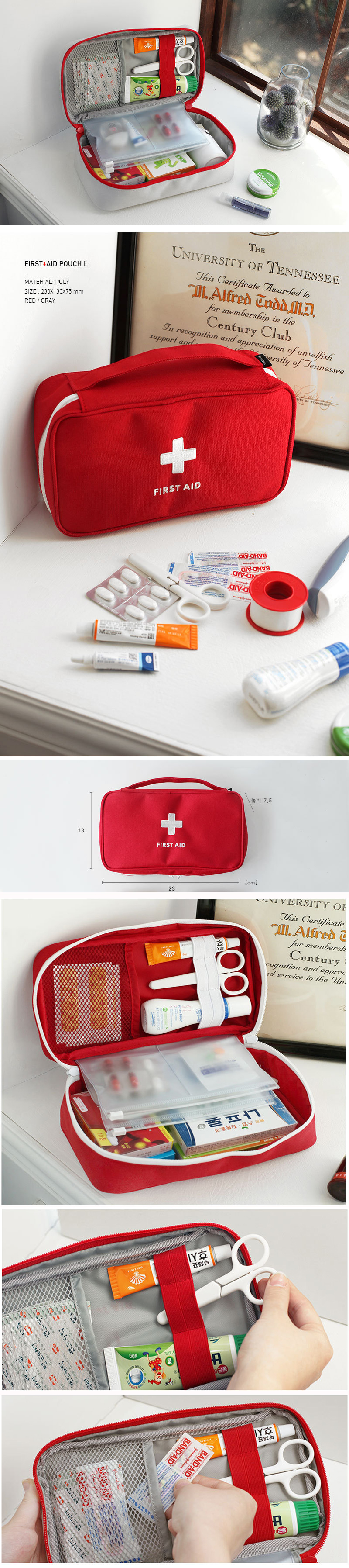 Portable First Aid Kit Pouch Outdoor Car Bag