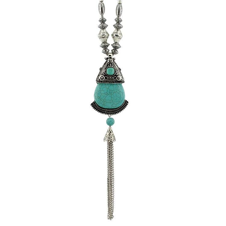 Unique Gifts Family Part - 33: Unique Gifts Vintage Best Friends Turquoise Chain Tassel Long Necklaces U0026  Pendants For Friendship Lover Family