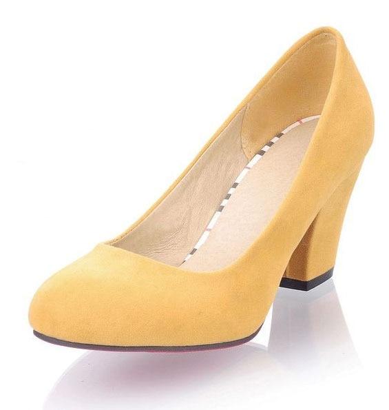 c16a2e0ec43 US $68.35 |HOT! NEW! Plain Scrub Round Toe Thick Heel Women Pumps  Comfortable Red Bottom Ladies Office Heels Elegant Women High Heels  Shoes-in Women's ...
