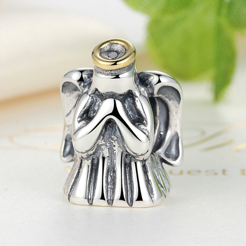 New Fashion 925 Sterling Silver Fashion Romantic Divine Guardian Protective  Charms Fit Bracelets Accessories-in Charms from Jewelry & Accessories on