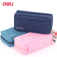 Deli Canvas Pencilcase For School Supplies Student Bts Stationery Storage Bag Gift Pencil Bag School Case