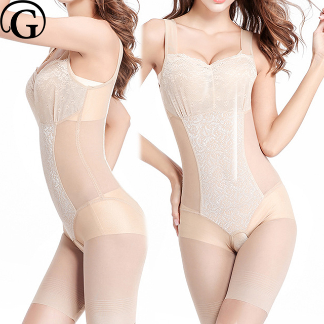 396fcd29082 PRAYGER Sexy Women One Piece Full Body Shapers Slimming Waist Control Tummy  Bodysuits Lift Bra Shapewear