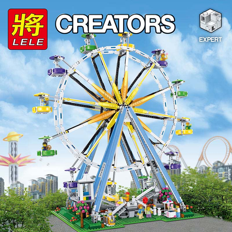 2524pcs New Large The ferris Wheel Model Building Block Bricks Compatible legoINGLY Technic City Bset Toys for Childrens 500pcs 0603 130k 130k ohm 5