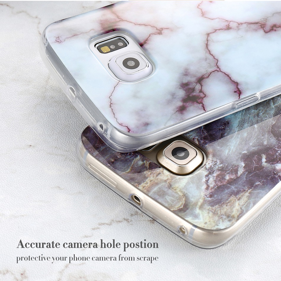 Marble Skin Case For Samsung Galaxy S8 Plus S7 S6 Edge S4 Soft Silicon Phone Cases (7)