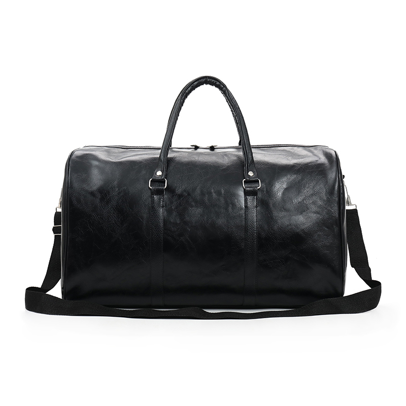 WOBAG 2019 Fashion Portable Ladies Travel Bag Pu Large Capacity Waterproof Short-distance Luggage Bag Men Sports Fitness Handbag