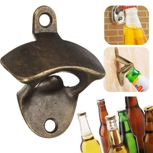 1 Pcs Bronze Metal Wall Mounted Beer Wine Bottle Cap Bar Opener Bar Kitchen Tool Bar Accessories Bar Tools