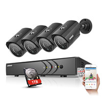ANNKE 1080N 8CH 1080N Home Security HD DVR 4PCS 720P 1200TVL AHD CCTV Camera System 8