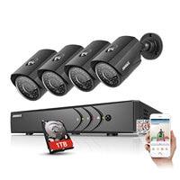 ANNKE 1080N 8CH 1080N Home Security HD DVR 4PCS 720P 1200TVL AHD CCTV Camera System 8