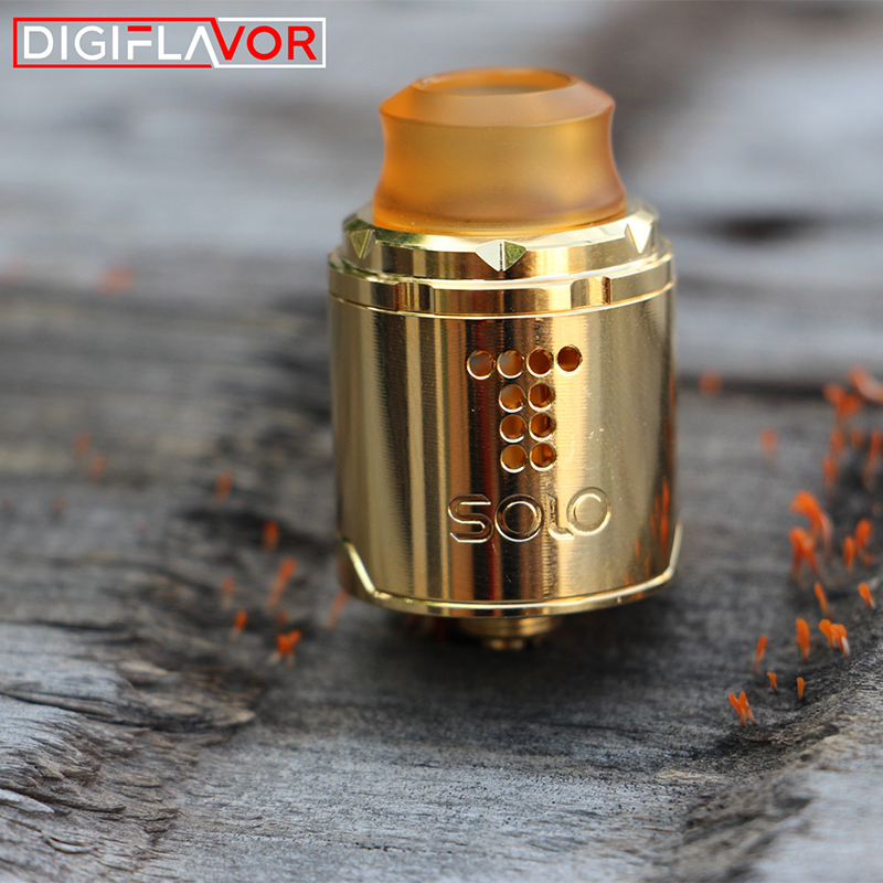 US $26 32 20% OFF|Vape tank Digiflavor Drop Solo RDA single coil 22mm/24mm  drop with two caps standard 510 and BF Squonk 510 pin deep base-in