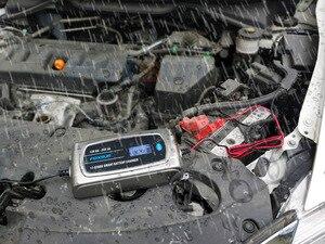 Image 3 - FOXSUR 12V 8A 24V 4A 11 stage Smart Battery Charger, 12V 24V EFB GEL AGM WET Car Battery Charger with LCD display & Desulfator