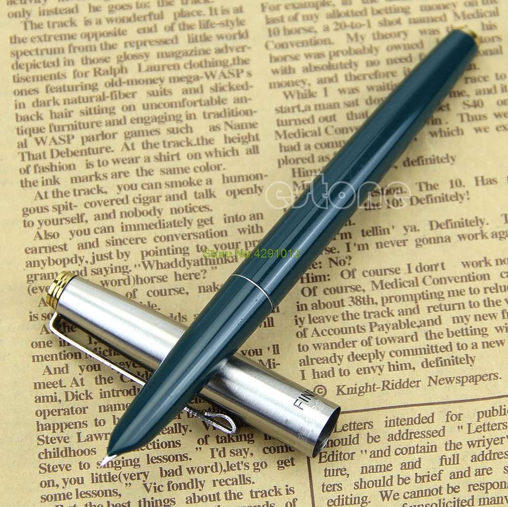 Quality Goods  Hero 329 Stainless Cap Fountain Pens Black Drop Shipping Support