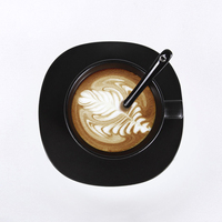 2018 Newest Creative Ceramic Coffee Cups With Saucer Tea Milk Cup Set with spoon Drinkware Z0022
